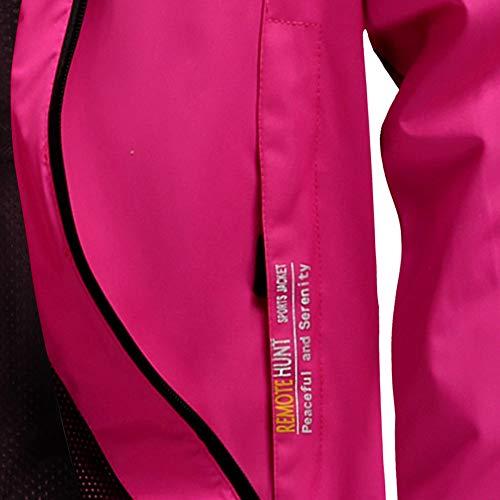 Hot Fleece Loose Hoodie Zipper vpass Jacket Windproof Outdoor Women's Pocket Spring Sport Cardigan Assault Pink with Waterproof Autumn Coat Overcoat Trench XHXfn6qp