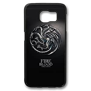 S6 Case, Galaxy S6 Case, Scratch Resistant Hard Bumper Case for Samsung Galaxy S6 House Targaryen Game Of Thrones 3 Shock Proof Black Hard Case for Samsung Galaxy S6
