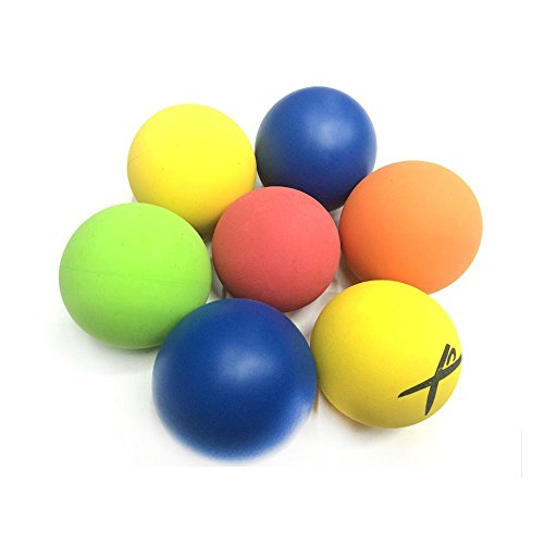 5.5CM American Standard Squash Ball Hollow Rubber Ball Wall Thickness 5MM High Jump (Color Random)