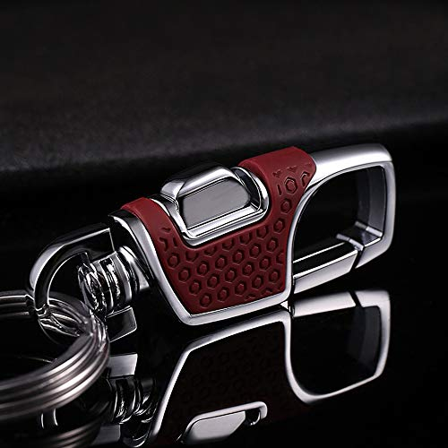 LanMa Key Chain Stainless Combination of Luxury Car Business Keychain, Power & Elegance Key Holder for Men and Women -Red