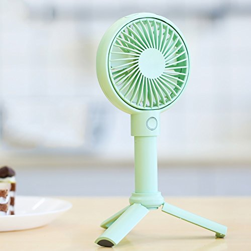 GLJ Usb Mini Student Dormitory Rechargeable Handheld Office Desktop Small Fan fan (Color : Green) by GLJ
