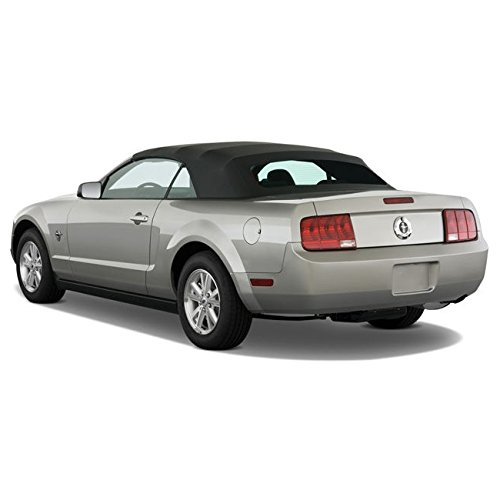 Ford Mustang (2005-2014) Complete Factory Style Convertible Top, Heated Glass Window in Sailcloth Vinyl (Glass Convertible Top Rear Window)