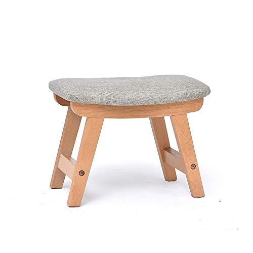 LJHA ertongcanyi Reposapiés, tela de madera maciza, sofá rectangular, sala de estar, casa, taburete, cambio de heces,...