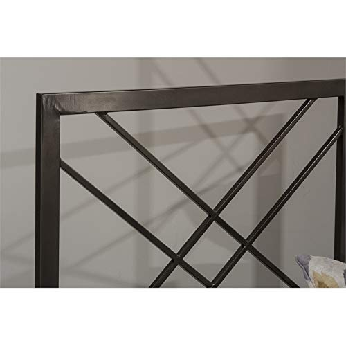 Hillsdale Furniture Transitional Headboard in Magnesium Pewter Finish (Full/Queen:61in.Wx0.75in.Dx52.25in.H(16lbs.)) (Magnesium Pewter Finish)