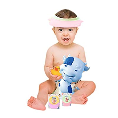 Adjustable Silicone Baby Waterproof Ear Defender Shampoo Cap