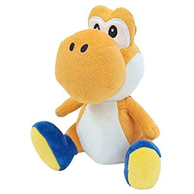 Sanei Super Mario All Star Collection Yoshi Plush Small (Orange): Toys & Games