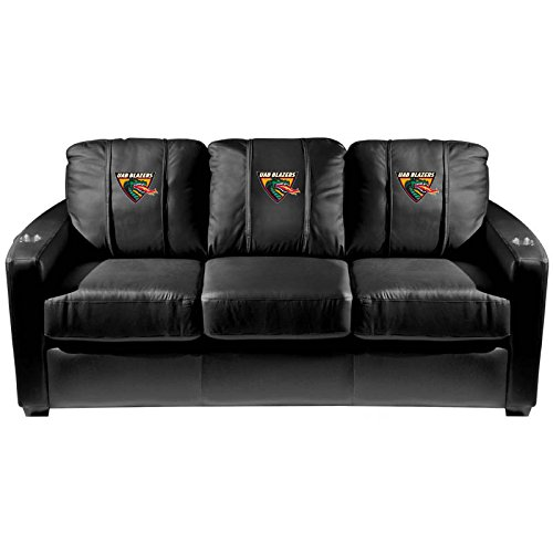 XZipit College Silver Sofa with Alabama Birmingham Blazers UAB Logo Panel, Black