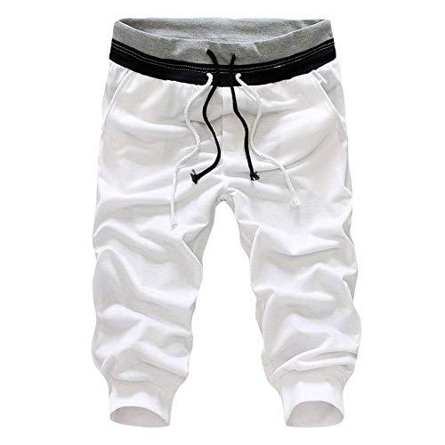 Poches Pantalon Élastique De Survêtement En Sport Pantalons Shorts À Unie Sacs Décontracté Taille Masculine Couleur Mode Chic Blanc Avec Sxn76Cwq