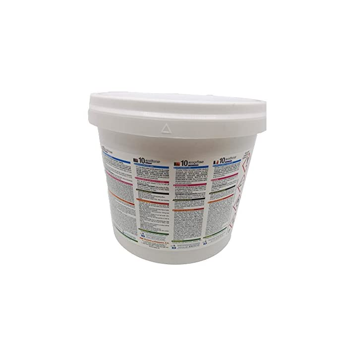41OBTryPNtL PQS 10 Acciones BICAPA T-250 Desinfectante, Anticalcáreo, Algicida, Clarificante, Floculante, Abrllantador, Bactericida, Choque, Mantenedor de pH y Estabilziador de Cloro.