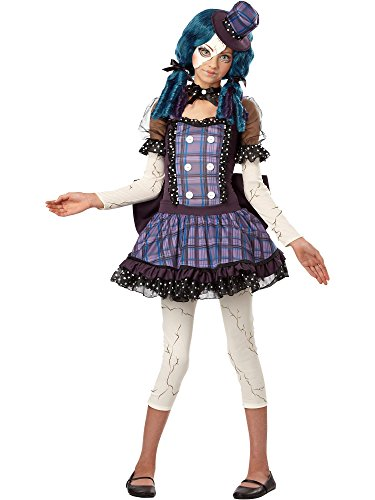 California Costumes Broken Doll Tween Costume, -