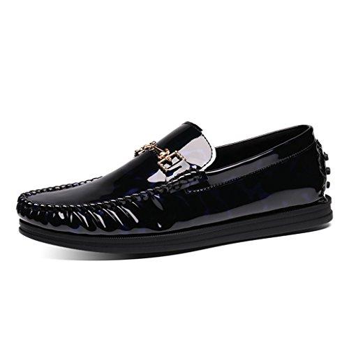 Spring Hombre Piel Cuero Casual Zapatos Lounger Zapatos Peas A Shoes B UK7 para EU42 Driving de Bright Tamaño Hombres Color Shoes 5 para Clásicos de 4Ex6qwWqIv