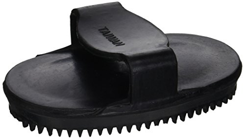 - HORSE AND LIVESTOCK PRIME 54056 054056 Soft Rubber Curry Brush for Horses, Black, Small