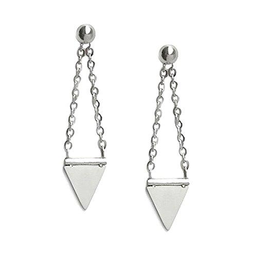 Stainless Steel Triangle Spike Dangle Earrings Stud Rocker Chick Jewelry for -
