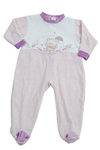 1ac0a5ced522e KING BEAR Pyjama en velours avec une jolie broderie I AM AN ARTIST avec une  ouverture