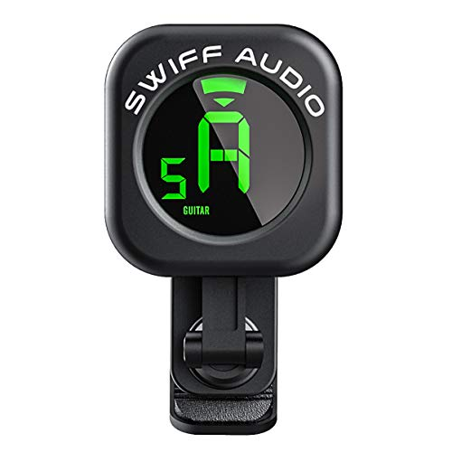 SWIFF-Guitar-Tuner-Clip-On-High-Precision-Micro-Clip-On-TunerAuto-Off-Electric-Guitar-Tuner-with-Easy-to-Read-VA-Display-for-All-12-String-Instruments-Bass-Ukulele-Violin-Chromatic