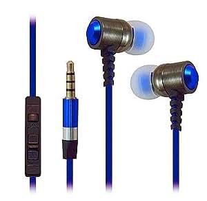 De alta resistencia 3,5 mm auriculares estéreo para ZTE Blade Vec 3 G (azul)- con Micrófono + lápiz capacitivo MYNETDEALS