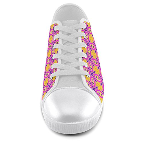 Pattern Canvas Custom Men Model016 Pink For Shoes Artsadd Chic 1qtx4In7qw