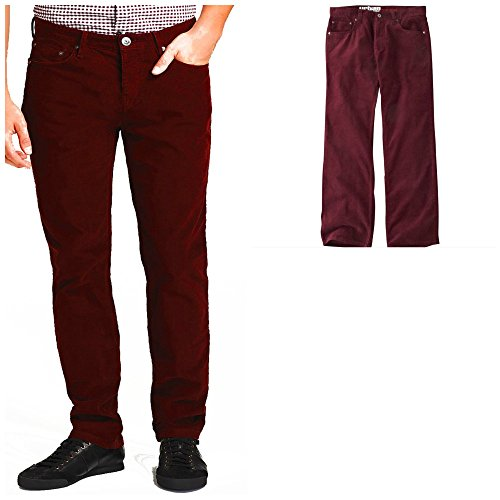 Men Urban Corduroy Relaxed Straight Pants (32/30)
