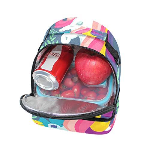 Magic Bolsa el almuerzo la hombro Alinlo para térmica con pincnic de correa el para ajustable para escuela 5dqpxwUpzO