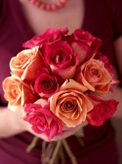One Dozen Assorted Roses One Dozen Organic Bouquet