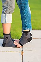Plantar Fasciitis Compression Ankle Socks / Heel Arch Support For Men Or Women, Best For Nurses, Sports & More! 1 Pair of Toeless Easy On Foot Sleeves by BlackMount.