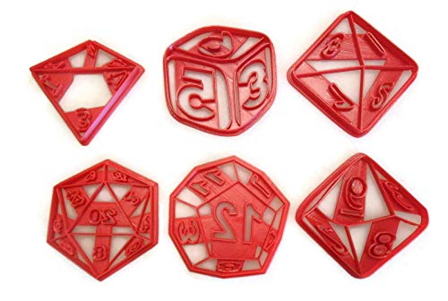 - RPG Role Playing Game dice cookie cutter set D4 D6 D8 D10 D12 D20