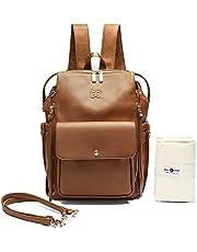 Diaper Bag by Miss Fong,Backpack Diaper Bag,Diaper Backpack(Brown)