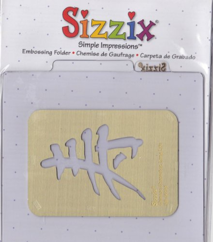 Sizzix 38-9794 Chinese Character Long Life Simple Impressions Embossing Folder Brass (Sizzix Simple Impressions Embossing Folder)