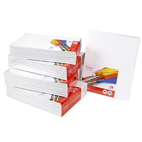 Artlicious Canvas Panels 48 Pack - 8''X10'' Super Value Pack- Artist Canvas Boards for Painting by Artlicious (Image #3)