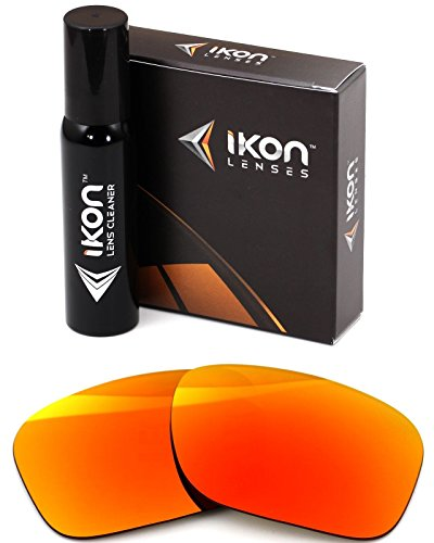 Polarized Ikon Iridium Replacement Lenses for Oakley Holbrook Sunglasses - Fire Orange - Iridium Holbrook Lens Fire Oakley