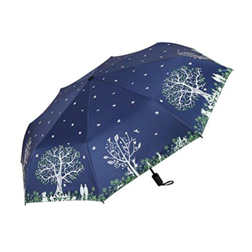 Ultra light Mini Compact Travel Umbrella Windproof Folding Golf Umbrella With 95% UV Protection (D) by Mrsrui
