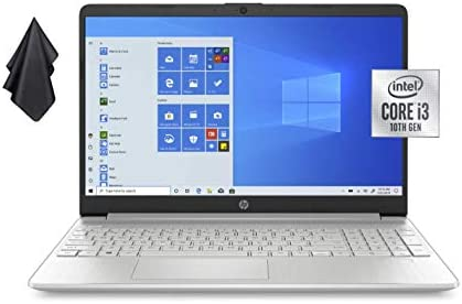 """2021 Newest HP Pavilion 15.6"""" HD Non-Touch Laptop, Intel Dual-Core i3-1005G1 Up to 3.4GHz (Beats i5-7200u), 16GB DDR4 RAM, 256GB PCI-e NVMe SSD, 720P Webcam, WiFi, HDMI, Windows 10 S + Oydisen Cloth WeeklyReviewer"""