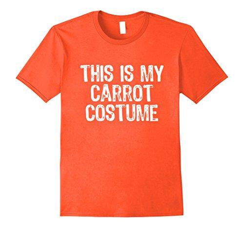 Mens This Is My Carrot Costume Halloween T-Shirt Medium Orange