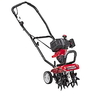 Troy-Bilt TB144 26cc 4-Cycle Gas-Powered Cultivator/Tiller with Edger Attachment Kit