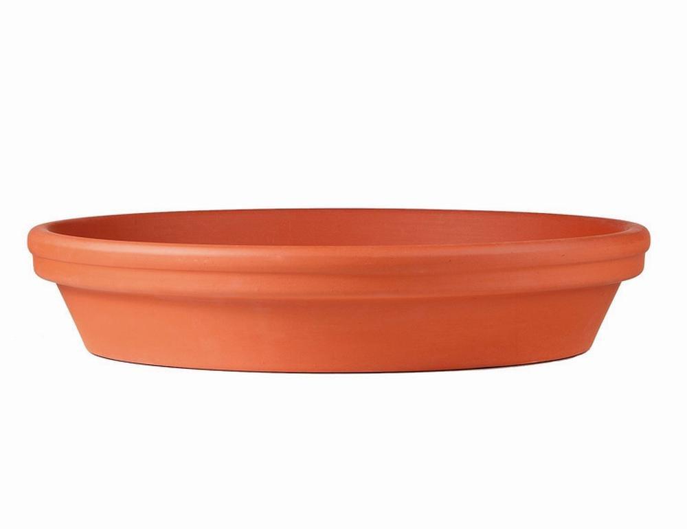 Westerwälder Spang Plant Pot Saucer Standard, Glazed Flower Pot 24x 24x 4.9cm red clay Untersetzer