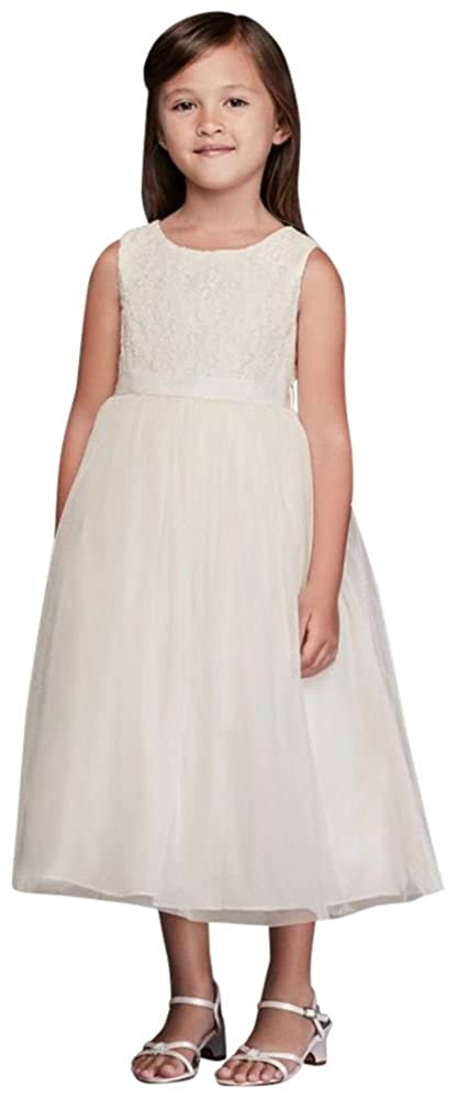 928ea716cc0 Amazon.com  Lace and Mesh Tank Flower Girl Communion Dress Style OP222   Clothing