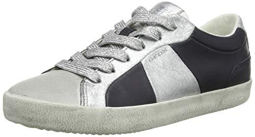 - Geox Women's D Warley A Low-Top Sneakers, (Navy/Silver C0673), 5 UK
