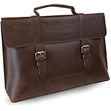 LB1 High Performance Leather Unisex Business Messenger Bag Briefcase Bag for Toshiba Portege R705-P25 13.3-Inch Laptop (Brown)