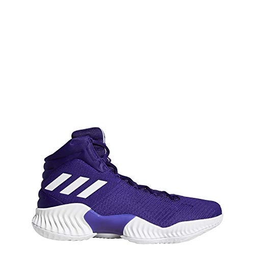 (adidas Men's Pro Bounce 2018 Basketball Shoe White/Regal Purple, 7.5 M US)