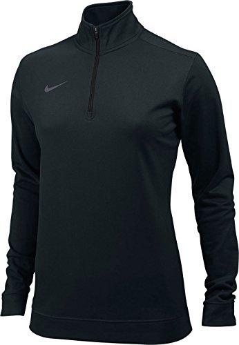 Pullover Nike Womens (NIKE Womens Dri-Fit 1/4 Zip - Black - Medium)