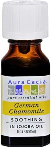 Aura Cacia Precious German Chamomile Jojoba Oil, 0.5 Fluid Ounce