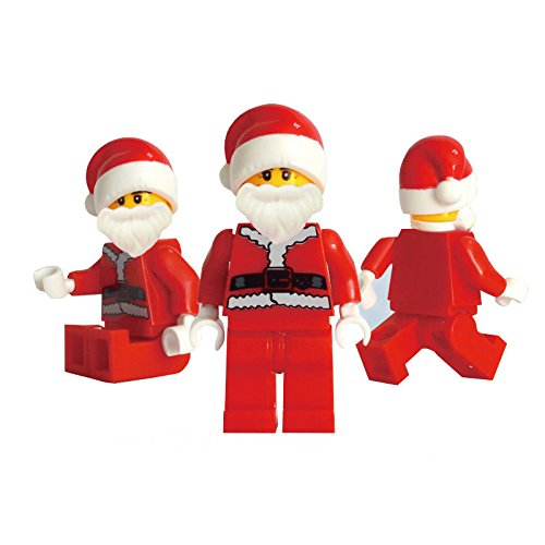 OLIVE US-5 Pcs ABS Christmas Santa Claus Building Blocks Kids Toys for Children Gifts