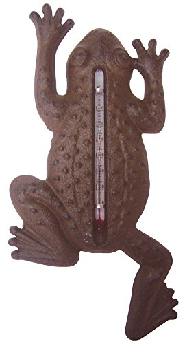 Esschert Design TH62 Cast Iron Frog - Thermometer Frog