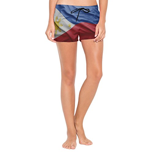 super3Dprinted Philippines Flag Womens Swimming Trunks Beach Board ()