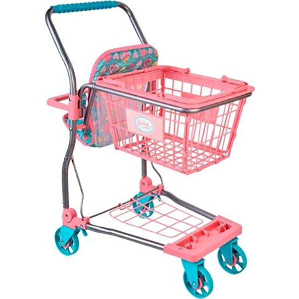 Amazon Com My Sweet Love Play Set Shopping Cart In Pink And Blue For 2 To 8 Years Old Toys Games