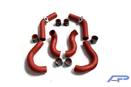 Agency Power (AP-GTR-108R) Intercooler Piping Kit for Nissan, Wrinkle ()