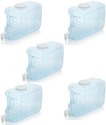 Arrow H2O 2.5-Gal Slimline Beverage Dispenser Blue 5 Packs