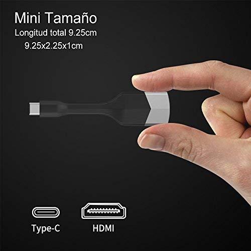 Cable USB C a HDMI USB 3.1 Tipo C a HDMI Adaptador, NIERBO 4K USB Tipo C a HDMI Note 8 Adaptador Cable para MacBook 12\