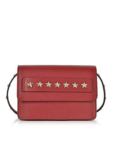Red Valentino Borsa A Spalla Donna NQ2B0713DSR017 Pelle Rosso