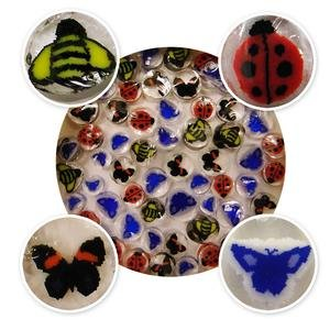 Bugs Life Millefiori Assortment - 90 Coe (Millefiori Mosaic Art Glass)